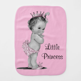 Vintage Little Princess Baby Pink Burp Cloth