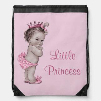 Vintage Little Princess Pink Baby Diaper Bag