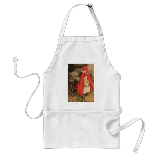 Vintage Little Red Riding Hood and Big Bad Wolf Standard Apron