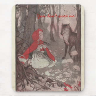 Vintage Little Red Riding Hood and Wolf Mouse Pad