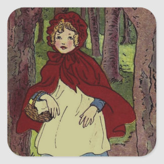 Vintage Little Red Riding hood book art Stickers