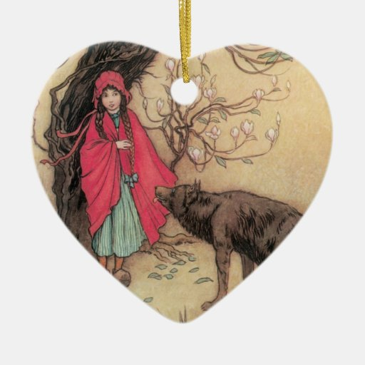 Vintage Little Red Riding Hood By Warwick Goble Christmas