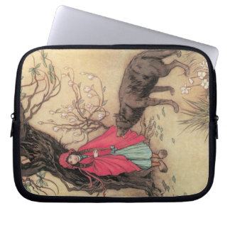 Vintage Little Red Riding Hood by Warwick Goble Laptop Sleeve