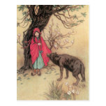 Vintage Little Red Riding Hood by Warwick Goble Post Cards