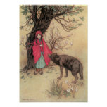 Vintage Little Red Riding Hood by Warwick Goble Posters