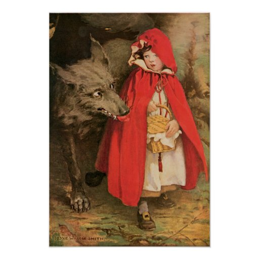 Vintage Little Red Riding Hood Jessie Wilcox Smith Posters