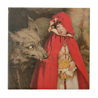Vintage Little Red Riding Hood Jessie Wilcox Smith Tile