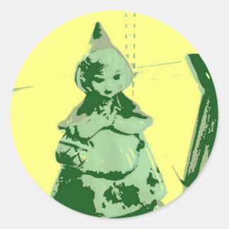 Vintage Little Red Riding Hood Sticker
