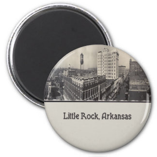 Vintage Little Rock Arkansas 6 Cm Round Magnet