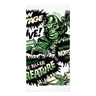 Vintage Live Monster Hollywood Show Personalised Photo Card