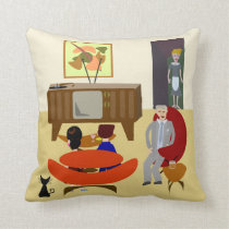 Vintage Living Illustration Cushion