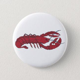 Vintage Lobster 6 Cm Round Badge