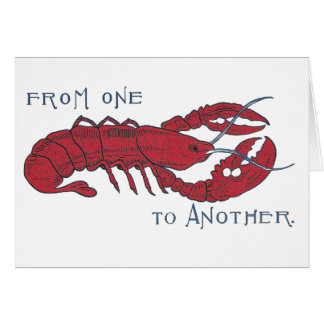 Vintage Lobster Card