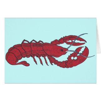 Vintage Lobster Greeting Card