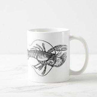 Vintage Lobster illustration Basic White Mug