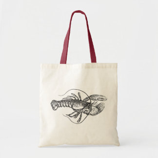 Vintage Lobster illustration Tote Bag