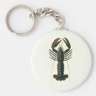 Vintage Lobster, Marine Ocean Life Crustacean Key Ring