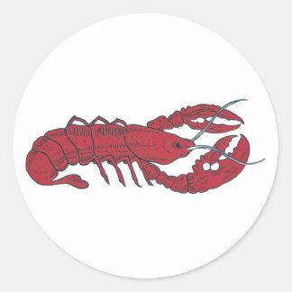 Vintage Lobster Round Sticker