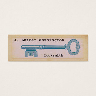 Vintage Locksmith Professional Business Cards