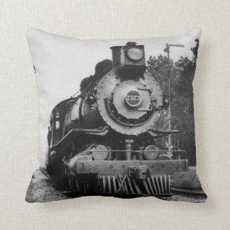 Vintage Locomotive Steam Engine 7373 Railroad Cushion