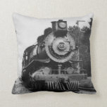Vintage Locomotive Steam Engine 7373 Railroad Pillow