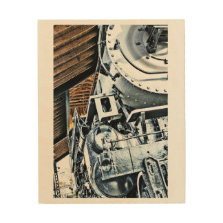 Vintage Locomotive wall portrait Wood Wall Art