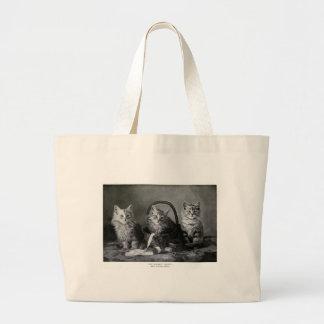 Vintage LOLcats Large Tote Bag