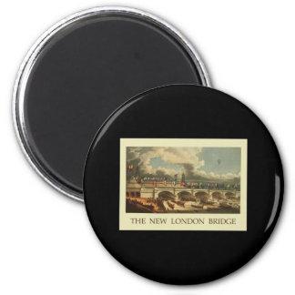 Vintage London Bridge 6 Cm Round Magnet