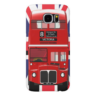 Vintage London Bus and Union Jack