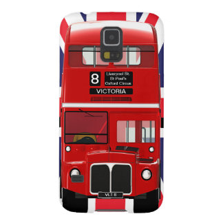 Vintage London Bus and Union Jack Galaxy S5 Case