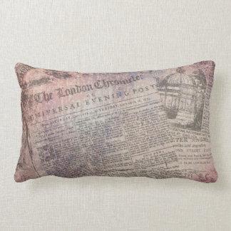 Vintage London Chronicle Newspaper Ads Lumbar Pillow