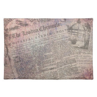 Vintage London Chronicle Newspaper Ads Placemat