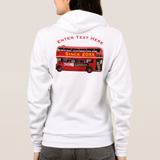 Vintage London Double Decker Bus Hoodie
