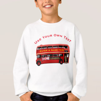 Vintage London Double Decker Bus Sweatshirt