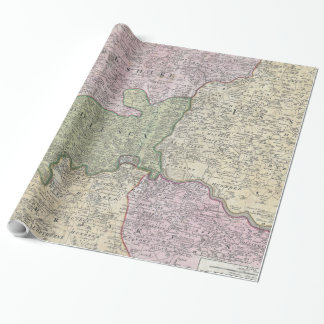 Vintage London England Regional Map (1741) Wrapping Paper