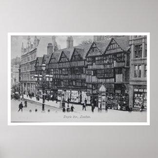 Vintage London England Staple Inn Posters