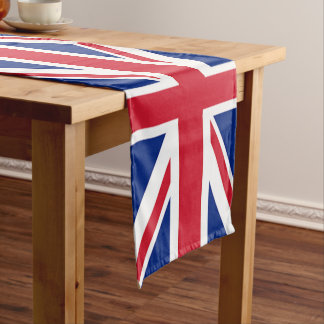 vintage london fashion british flag union jack short table runner