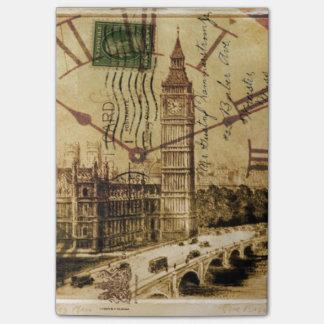 vintage london landmark landscape big ben post-it® notes
