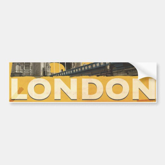 Vintage London Poster Bumper Sticker