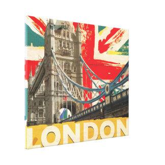 Vintage London Poster Canvas Print