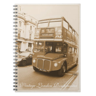 Vintage London Routemaster red bus Notebooks