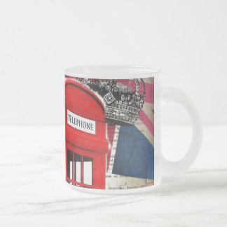 vintage london telephone booth british fashion frosted glass mug