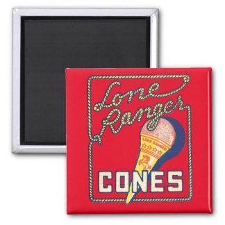 Vintage Lone Ranger Ice Cream Cones Ad Magnet