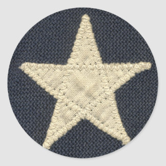 Vintage Lone Star Texas Flag Round Stickers