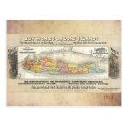 Vintage Long Island, New York Map, Railroad 1891 Postcard