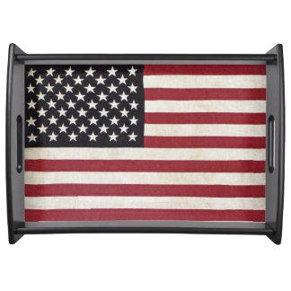 Vintage Look American Flag Serving Tray