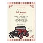 Vintage Look Antique Car Birthday Invite