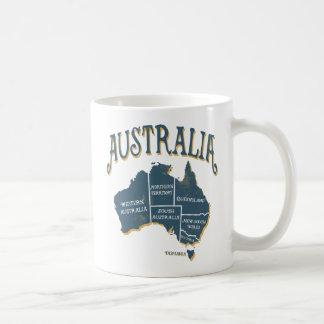 Vintage Look Australia Map Coffee Mug