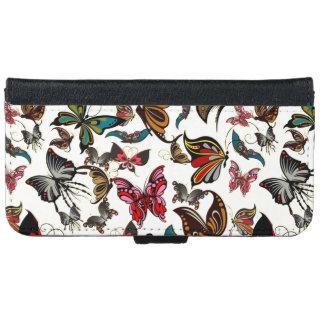 Vintage Look Butterflies iPhone 6 Wallet Case