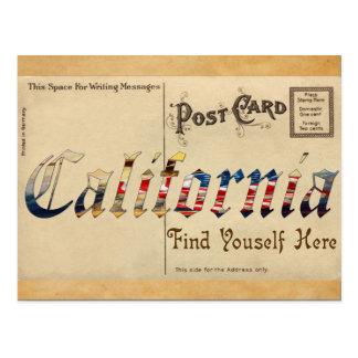 Vintage Look California Old Postcard